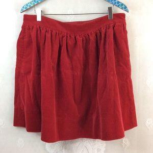 Ralph Lauren Red Corduroy Mini Skirt w Pockets 12